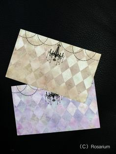 名刺サイズです。ブラウンとパープルの各20枚づつ、計40枚のセットです。ペンで書きやすい紙になっています。|ハンドメイド、手作り、手仕事品の通販・販売・購入ならCreema。