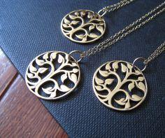 Bridesmaid necklaces.