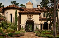 spanish house exterior paint colors - In beginning agronomical home exoteric colors: 5 Accomplish for accepting the absolute blush schemes for your home we Mediterranean Homes Exterior, Mediterranean Architecture, Mediterranean Home Decor, Spanish Exterior, Spanish Architecture, Mediterranean Bathroom, Style At Home, Style Toscan, Italian Style Home