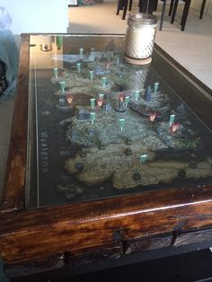 [No Spoilers] Here's a coffee table I made to preserve my GoT 3D puzzle! - Imgur