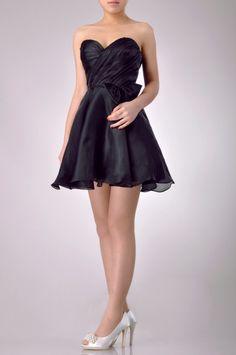 Short Strapless Sweetheart Little Black Dress Price : $189.99 Free Shipping!