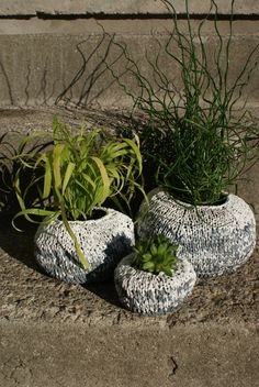 Reuse your Plastic Shopping Bags!!!! Knitting PATTERN  Graduated Ombre Garden Pods by ErinBlacksDesigns, $5.50
