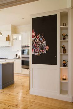 Large and open traditional style kitchen in 2tone colours with