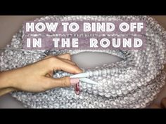 How to Bind Off - Beginner (with closed captions) or cast off - YouTube