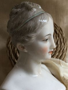 BEAUTIFUL & RARE Dressel & Kister LADY Doll - ALL Orig. & MINT Braids Grey Hair Antique Dolls, Vintage Dolls, Dolly Doll, My Doll House, Half Dolls, China Dolls, Bisque Doll, Dollhouse Dolls, Grey Hair
