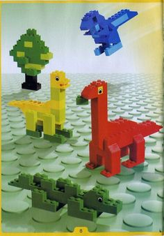 Thousands of complete step-by-step printable older LEGO® instructions for free. Here you can find step by step instructions for most LEGO® sets. Minecraft Pattern, Lego Minecraft, Lego Lego, Lego Batman, Easy Lego Creations, Bloc Lego, Lego Basic, Lego Challenge, Lego Animals
