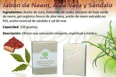 Jabon de Neem, Aloe Vera y Sándalo