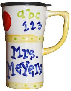 for teachers... personalized ceramic mug