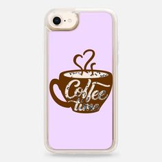 Casetify iPhone 8 Liquid Glitter Case - Coffee case by Priyanka Chanda