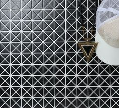1 Inch Matte Finish Triangle Mosaic Tiles, Excellent For Design Interior,  Unique Home Style