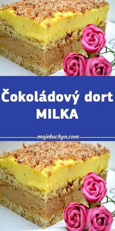Čokoládový dort MILKA Vanilla Cake, Tiramisu, Cheesecake, Dessert Recipes, Food And Drink, Snacks, Cooking, Ethnic Recipes, Sweet