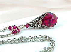 A personal favorite from my Etsy shop https://www.etsy.com/listing/166175024/new-swarovski-ruby-red-baroque-crystal