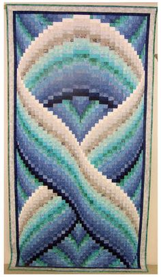 """bargello quilt  how about a """"Quilt for a Cure"""" pink ribbon?"""