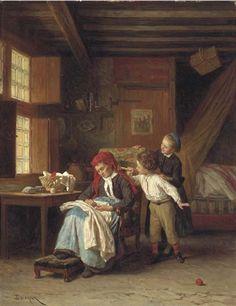 Théophile Emmanuel Duverger -The rude awakening