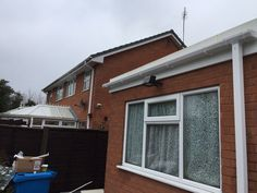 And white #upvcfascia #soffits and #guttering#French doors,#patiodoors, #FasciaSoffits guttering,#Cladding,#Conservatives,#Flatrubberroofs.
