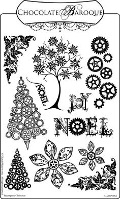 Steampunk Christmas Unmounted stamp sheet - A4