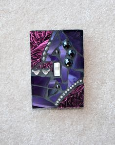 Purple Iridescent - Single OVERSIZED Mosaic Light Switch Cover Wall Plate. $17.95, via Etsy.