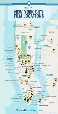 Travel infographic This Map Shows The Most Iconic Movies Filmed In Each US State DesignTAXI.com