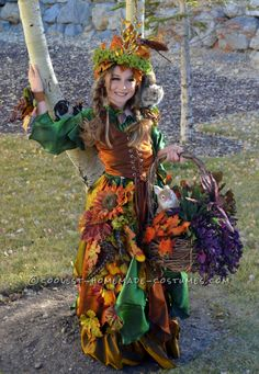 Beautiful Handmade Mother (Daughter) Nature Costume… Coolest Halloween Costume Contest