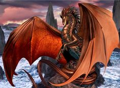 """Metallic dragons have traditionally been the """"good"""" dragons in fantasy worlds. """"Coppervein"""" is the first of my Metallic Dragons, this guy is copper of course. Fantasy Dragon, Dragon Art, Fantasy Art, Fantasy Story, Fantasy Creatures, Mythical Creatures, Mythological Creatures, Medieval, Copper Dragon"""