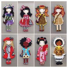 Items similar to Pendant or brooch doll in Miyuki beads/original pendant/gift idea/woman pendant on Etsy Pendant or brooch doll made of miyuki beads / jewelry / gift Seed Bead Patterns, Beaded Jewelry Patterns, Peyote Patterns, Beading Patterns, Miyuki Beads, Art Perle, Iron Beads, Peyote Beading, Bead Crochet