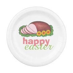 Happy Easter Glazed Sliced Ham Dinner Plates  sc 1 st  Pinterest & Colorful Cupcakes Paper Plate | Party Paper Plates | Pinterest ...