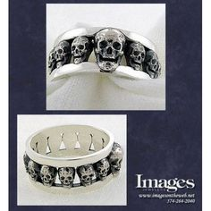 Men's Skull Ring in Sterling Silver