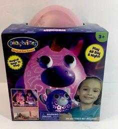 "Playbrites 10"" Unicorn Light Show Night Light Toy with 9 pcs Magic Fun Face #JayPlay"