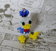 Miniature Seed Bead Doll Disney Donald Duck by JennyLouCreations, $15.00