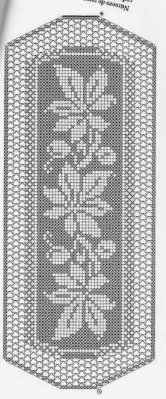 Crochet Bedspread, Tapestry Crochet, Crochet Motif, Crochet Designs, Crochet Doilies, Crochet Table Runner, Crochet Tablecloth, Filet Crochet Charts, Knitting Charts