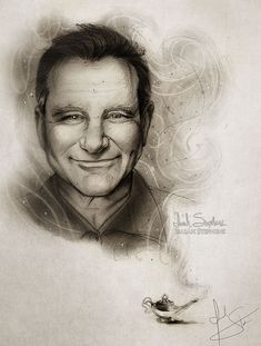 Pencil Sketching Robin williams A Worldwide Tribute To Robin Williams by Artists