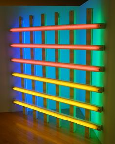 Dan Flavin, untitled (in honor of Harold Joachim) 3, 1977. Flavin #licht #installatie