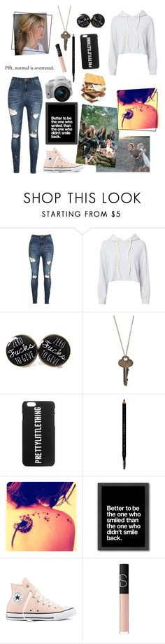 """Girl Squad🤘"" by athena-queen ❤ liked on Polyvore featuring Monrow, The Giving Keys, Gucci, Americanflat, Converse, Eos and NARS Cosmetics"