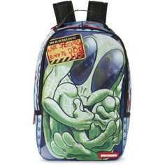 Sprayground Area 51 Laptop Backpack ($40) ❤ liked on Polyvore featuring bags, backpacks, black, day pack backpack, mesh zipper bags, sprayground bags, padded backpack and laptop bag