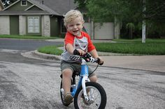 """My son calls it """"Bluebike."""" His delight in it is contagious, but I realize I'm probably going a little overboard when Theo starts mimicking my exaggerated """"Wowwwww"""" as he rolls around the house."""