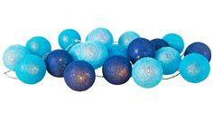 Alice & Fox Ljusslinga 20 Bollar Sky Blue