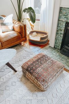Handmade upcycled Moroccan floor cushion (also known as a 'pouf') made from vintage rugs. Floor cushions add a bohemian flair to any space, and can be used as floor seating, pet beds, ottomans, and more! Moroccan Floor Cushions, Easy Fill, Classic Living Room, Floor Seating, Extra Seating, Pet Beds, Ottomans, Vintage Rugs, Living Room Decor