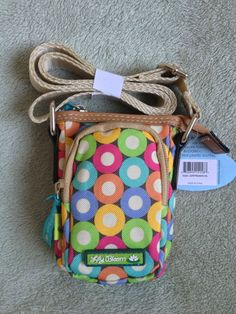 Lily Bloom Handbag Recycled Crossbody Bag Karma Circles Spheres Small Purse $19.99 free shipping