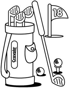 G Is For Golf Coloring Page