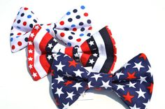 Dog bow tie patriotic 4th of july memorial by WigglyButtDesigns