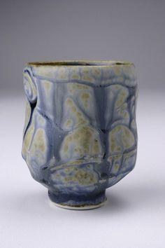 Blue Ash Porcelain Tea Cup by Tony Ferguson