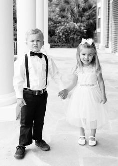 An adorable duo: http://www.stylemepretty.com/florida-weddings/osprey-florida/2016/07/16/modern-southern-outdoor-wedding/ | Photography: Justin DeMutiis