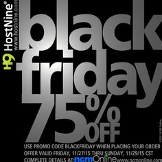 Beginning on Black Friday on November 2015 at AM CST, and running through PM CST on Sunday, November you can purchase any of HostNine's fast and reliable web hosting plans for an incredible off. Coupon Codes, Black Friday, Coupons, Coding, How To Plan, Coupon, Programming
