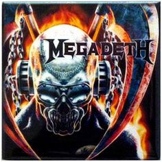 Official Megadeth magnet for refrigerators, lockers, & most metal surfaces.