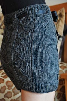 "Ravelry: ""Cables and Curves"" Cable Knit Skirt pattern by Lauren Riker"