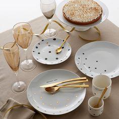 4er-Set Dessertteller aus Porzellan La Redoute Interieurs