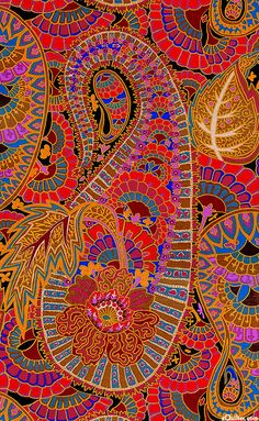 """""""Belle Epoch - Black"""" from the 'Spring 2013' collection by Kaffe Fassett/Westminster Fibers via eQuilter.com"""