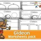 Gideon worksheets pack 3.00