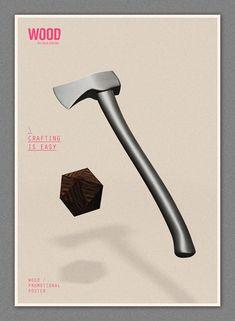 Poster Design Inspiration - Made of Wood