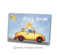 Custom name boys door sign for kids room or nursery by jolinne
